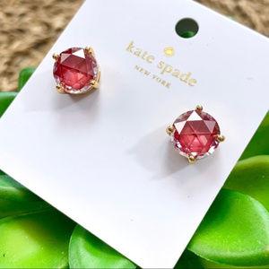 Kate Spade Hot Pink Gumdrop Stud Earrings